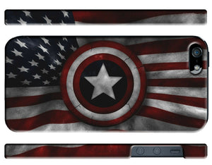 Captain America Avengers Flag USA Iphone 4s 5s 5c SE 6 6S 7 8 X Plus Cover Case