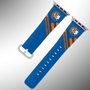 New York Islanders Apple Watch Band 38 40 42 44 mm Fabric Leather Strap 02