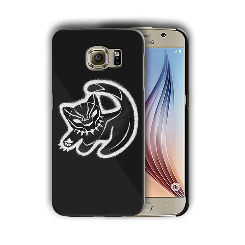 Black Panther Samsung Galaxy S4 5 6 7 8 9 10 E Edge Note 3 - 10 Plus Case n2
