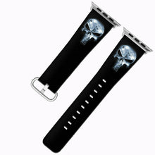 Load image into Gallery viewer, Punisher Apple Watch Band 38 40 42 44 mm Series 5 1 2 3 4 Fabric Leather Strap 5