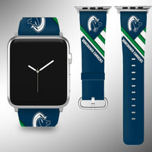 Load image into Gallery viewer, Vancouver Canucks Apple Watch Band 38 40 42 44 mm Fabric Leather Strap 01