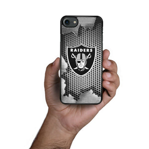 Rubber bumper case Oakland Raiders for iphone X XS Max XR 8 7 6 5 plus cover