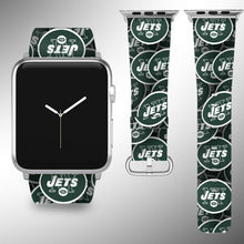 Load image into Gallery viewer, New York Jets Apple Watch Band 38 40 42 44 mm Fabric Leather Strap 1