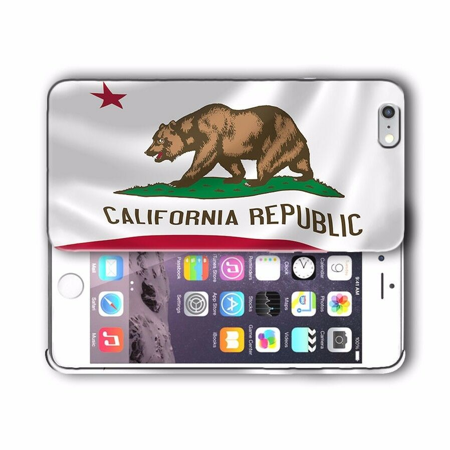 California Symbols Flag Iphone 4s 5s 5c SE 6s 7 8 X Xs XR 11 Pro Max Plus Case 2