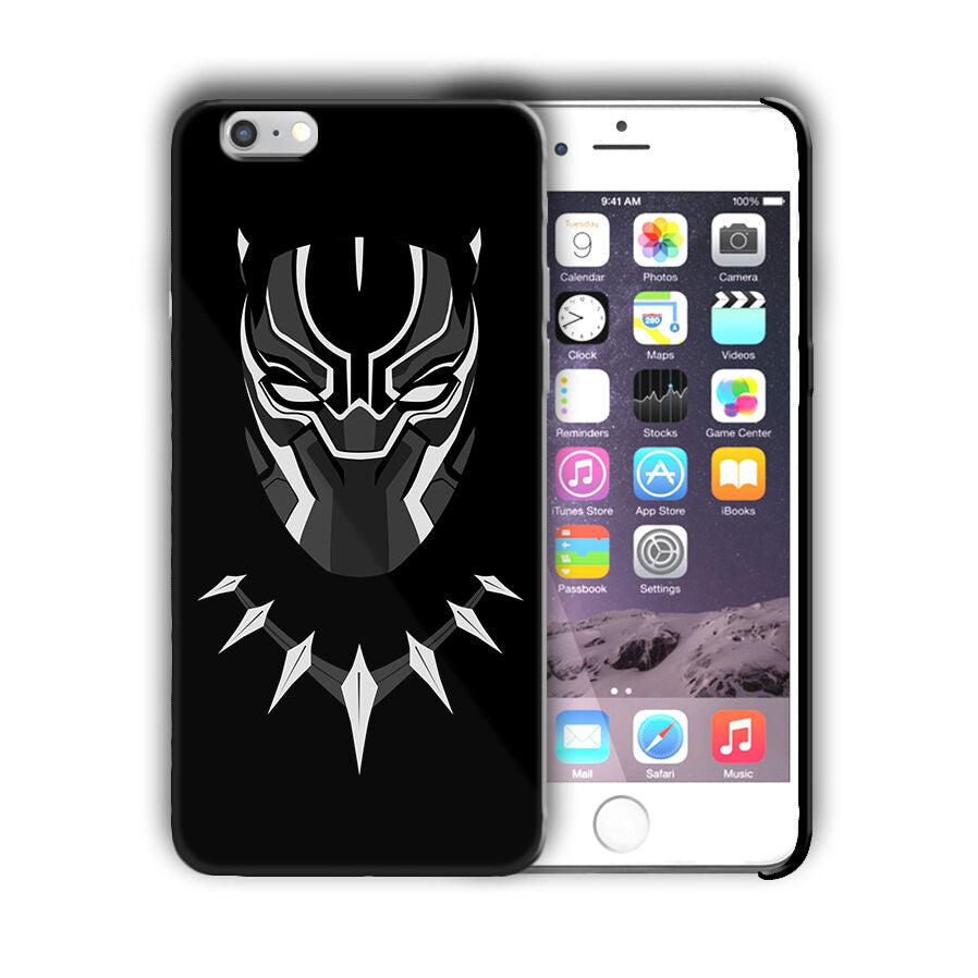 Super Hero Black Panther Iphone 4 4s 5 5s 5c SE 6s 7 8 X XS Max XR Plus Case n5