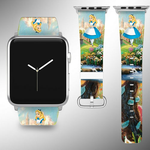 Alice in Wonderland Apple Watch Band 38 40 42 44 mm Series 5 1 2 3 4 Wrist Strap