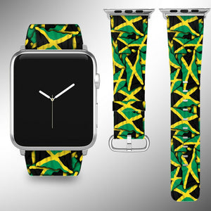 Jamaica Flag Apple Watch Band 38 40 42 44 mm Series 5 1 2 3 4 Wrist Strap