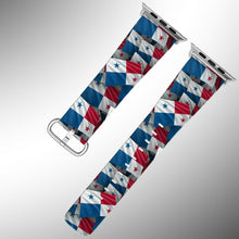 Load image into Gallery viewer, Panama Flag Apple Watch Band 38 40 42 44 mm Series 1 - 5 Fabric Leather Strap