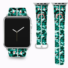 Load image into Gallery viewer, Bape Shark Apple Watch Band 38 40 42 44 mm Series 5 1 2 3 4 Wrist Strap 03