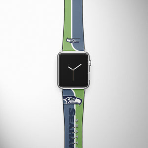 Seattle Seahawks Apple Watch Band 38 40 42 44 mm Series 1 2 3 4 Wrist Strap 01