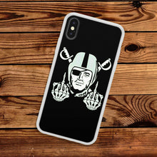 Load image into Gallery viewer, Rubber bumper case Oakland Raiders for iphone 5 6 7 8 plus X XS Max XR cover