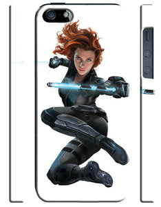 Captain America: Civil War Black Widow Iphone 4 4s 5 5s 5c 6 6S 7 + Plus Case 25