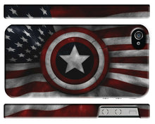 Load image into Gallery viewer, Captain America Avengers Flag USA Iphone 4s 5s 5c SE 6 6S 7 8 X Plus Cover Case