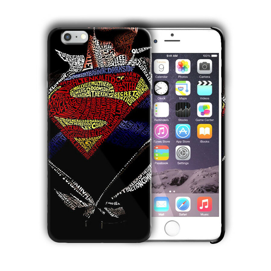 Super Hero Superman Iphone 4s 5 SE 6 6s 7 8 X XS Max XR 11 Pro Plus Case n14