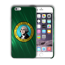 Load image into Gallery viewer, Washington State Symbols Flag Iphone 4 4s 5 5s 5c SE 6 6s 7 + Plus Case Cover 01