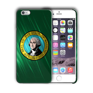 Washington State Symbols Flag Iphone 4 4s 5 5s 5c SE 6 6s 7 + Plus Case Cover 01