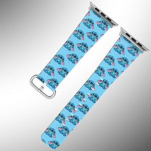 Stitch Disney Apple Watch Band 38 40 42 44 mm Series 5 1 2 3 4 Wrist Strap 02