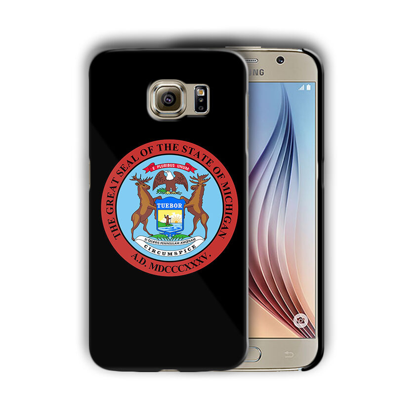 Michigan Great Seal Emblem Galaxy S4 S5 S6 S7 Edge Note 3 4 5 Plus Case 03