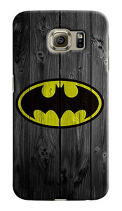 Batman Wood Logo Samsung Galaxy S4 5 6 7 8 9 10 E Edge Note 3 - 10 Plus Case