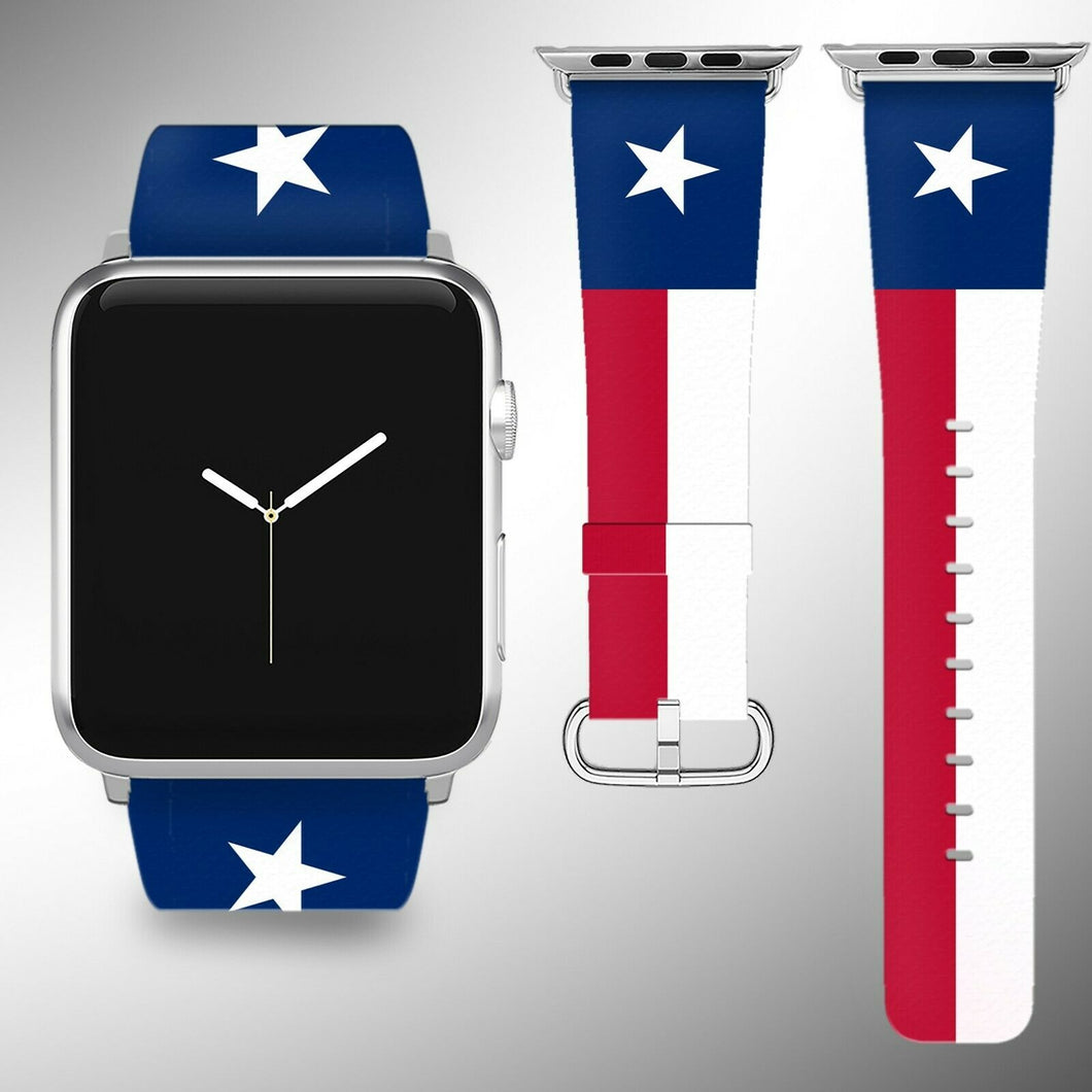 Texas Flag Apple Watch Band 38 40 42 44 mm Series 5 1 2 3 4 Wrist Strap 02