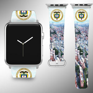 Colombia Coat of Arms Apple Watch Band 38 40 42 44 mm Series 1 - 5 Wrist Strap