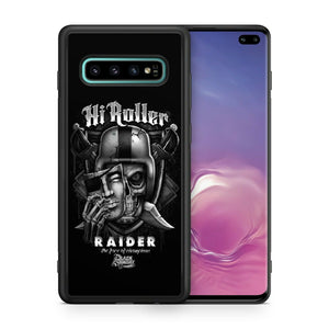Oakland Raiders TPU bumper case for Galaxy S10 E S9 plus S8 S7 S6 S5 note 5 8 9