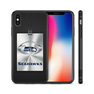 Rubber bumper case Seattle Seahawks for iphone 5 6 7 8 plus X XS Max XR cover