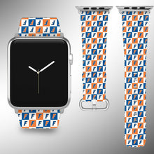 Load image into Gallery viewer, Florida Gators Apple Watch Band 38 40 42 44 mm Fabric Leather Strap 3