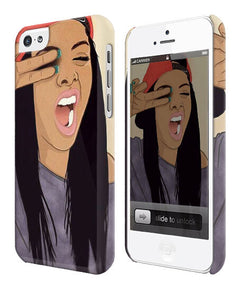 Cool Girl Drawing Swag Christmas Iphone 4 4s 5 5s 5c 6 6S + Plus Case Cover 1817