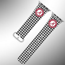 Load image into Gallery viewer, Alabama Crimson Tide Apple Watch Band 38 40 42 44 mm Fabric Leather Strap 4