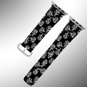 Punisher Apple Watch Band 38 40 42 44 mm Fabric Leather Strap 02