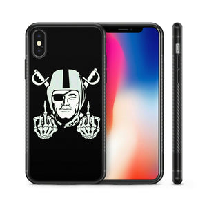 Rubber bumper case Oakland Raiders for iphone 5 6 7 8 plus X XS Max XR cover
