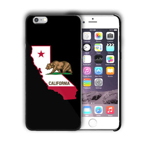 California State Symbols Flag Iphone 4 4s 5 5s 5c SE 6 6s 7 + Plus Case Cover 01