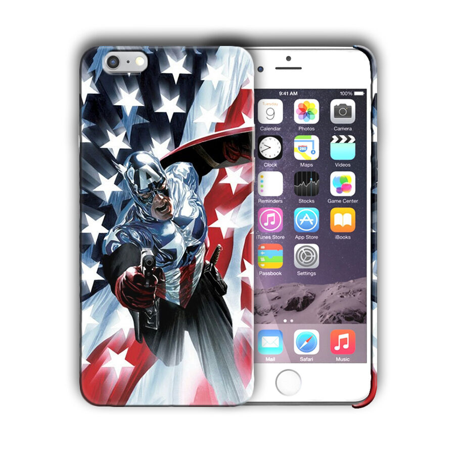 Super Hero Captain America Iphone 4s 5 5s 5c SE 6s 7 8 X XS Max XR Plus Case n8