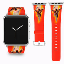 Load image into Gallery viewer, Flash Apple Watch Band 38 40 42 44 mm Series 5 1 2 3 4 Fabric Leather Strap 04