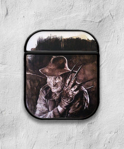 Halloween Freddy Krueger case for AirPods 1 or 2 protective cover skin 02