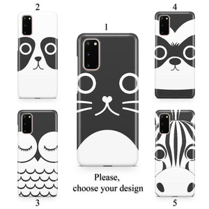 Cartoon animal faces case for Galaxy s20 s20+ Ultra s10 s10+ s9 s8 s7 S6 Edge SN