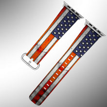 Load image into Gallery viewer, USA Flag Apple Watch Band 38 40 42 44 mm Series 5 1 2 3 4 Wrist Strap 02