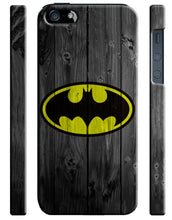 Load image into Gallery viewer, Iphone 4 4s 5 5s 5c 6 6S 7 8 X XS Max XR Plus Case Super Hero Batman Wood Logo