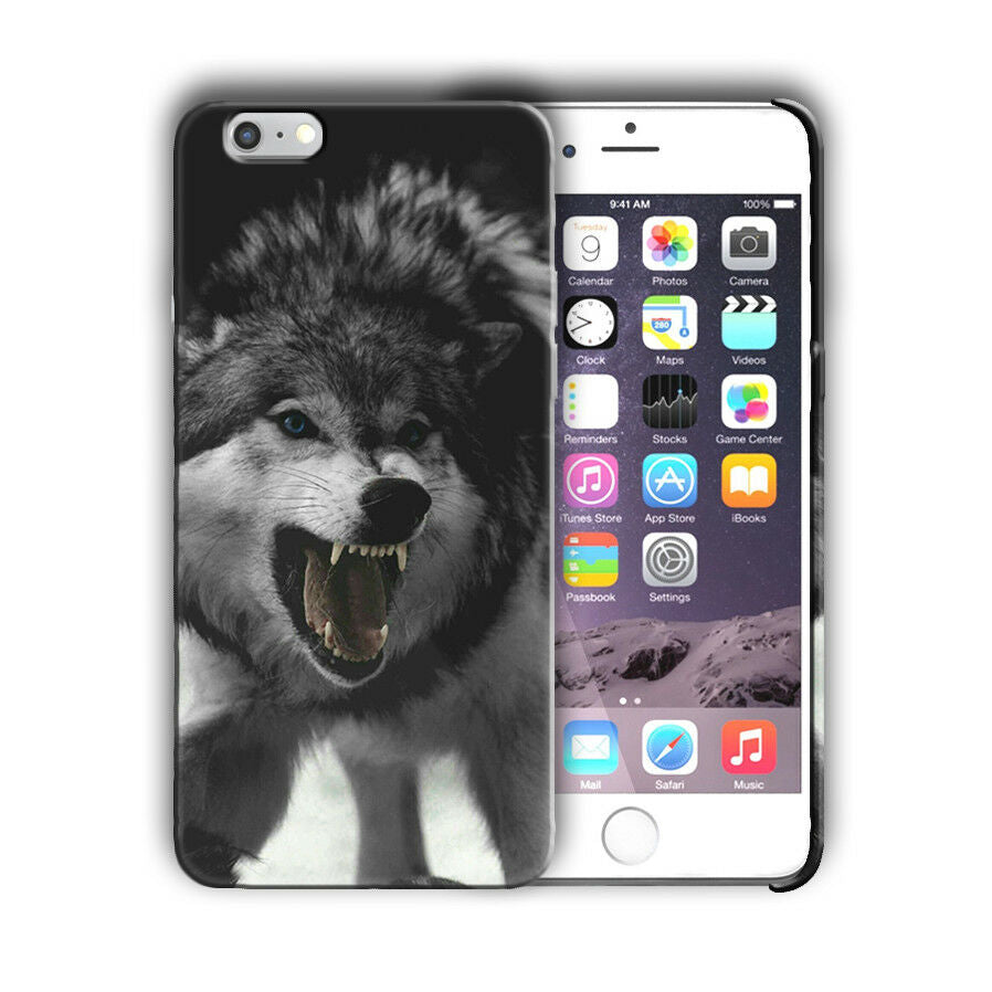 Animals Wolf Iphone 4 4s 5 5s 5c SE 6 6S 7 8 X + Plus Case Cover n4