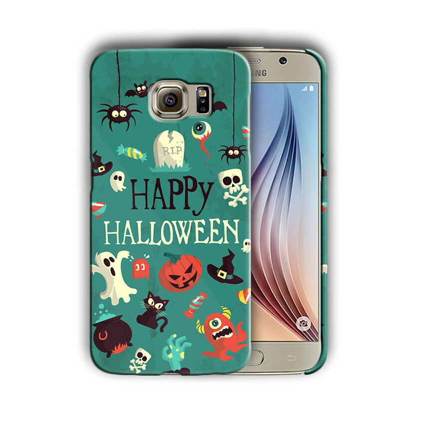 Happy Halloween Samsung Galaxy S4 5 6 7 8 9 10 E Edge Note 3 - 10 Plus Case n18