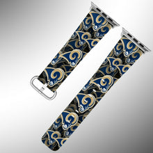 Load image into Gallery viewer, Los Angeles Rams Apple Watch Band 38 40 42 44 mm Fabric Leather Strap 1