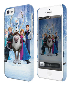 Iphone 4s 5 5s 5c 6 6S 7 8 X XS Max XR Plus Cover Case Frozen Snowman Elsa Olaf