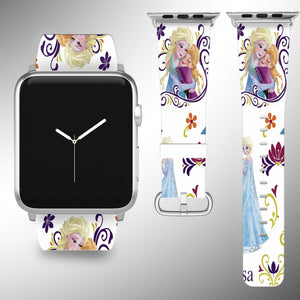 Frozen Apple Watch Band 38 40 42 44 mm Disney Series 5 1 2 3 4 Wrist Strap