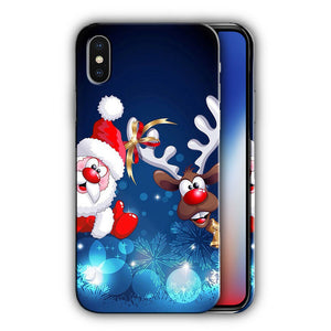 Santa Claus Christmas iPhone 5S 5c 6 6S 7 8 X XS Max XR Plus SE Case Cover 4