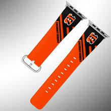 Load image into Gallery viewer, Cincinnati Bengals Apple Watch Band 38 40 42 44 mm Fabric Leather Strap 2