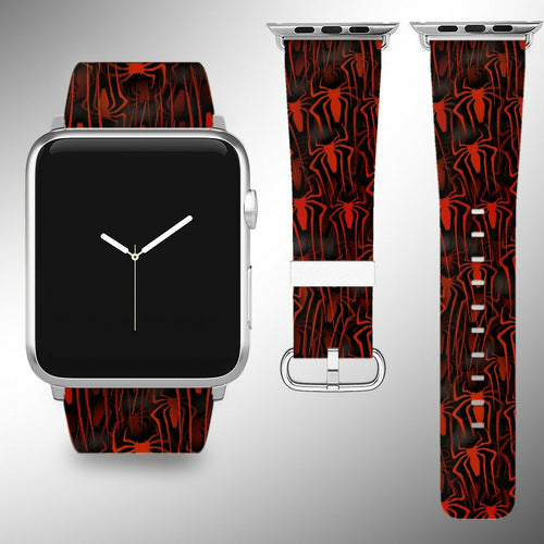 Spider-Man Apple Watch Band 38 40 42 44 mm Fabric Leather Strap 01
