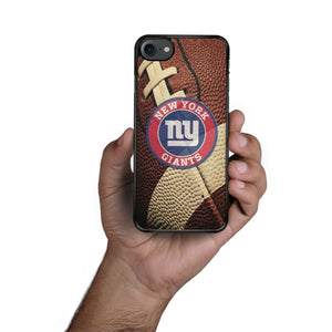 Rubber bumper case New York Giants for iphone 5 6 7 8 plus X XS Max XR cover