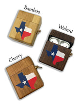 Load image into Gallery viewer, Texas Lone Star State wooden Case for AirPods 1 2 3 Pro real wood cover SN 134