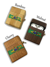 Load image into Gallery viewer, Brazil Brasil wooden Case for AirPods 1 2 3 Pro real wood cover SN 102